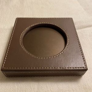 NIB Partylite Faux Leather Candle Holder
